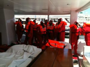 Mega Yacht - ISM audit & emergency Drills (Mediterranean)